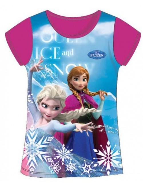 Tricou Frozen, Elsa si Ana, fucsia, copii 4-8 ani