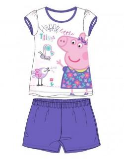 Pijama fete, Peppa Pig, alb-mov, 2-7 ani