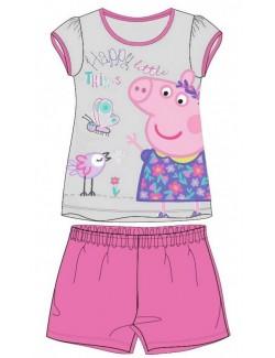 Pijama Peppa Pig, gri-roz, fete 2-7 ani