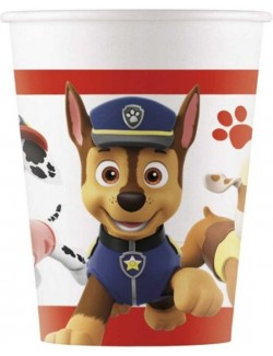 Set 8 pahare carton, Paw patrol, 200 ml