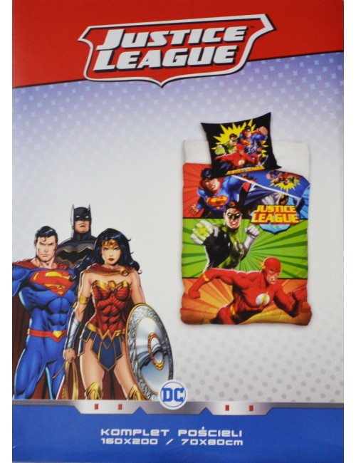 Lenjerie pat Justice League, 160 x 200  cm