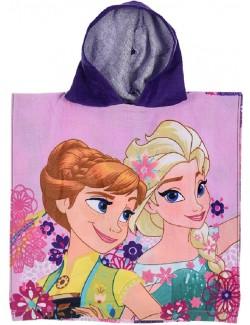 Prosop poncho, Elsa si Ana Disney Frozen, 50 x 100 cm