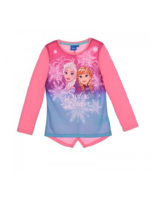 Bluza Elsa si Ana Frozen, roz, fete 4-8 ani