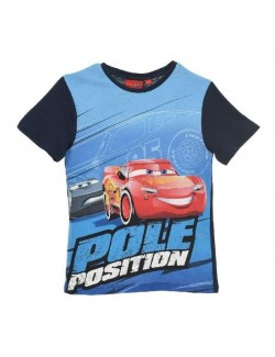 Tricou copii, Cars Pole Position, 3-8 ani, bleumarin
