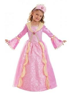 Costum Printesa medievala Corolle, roz, 5-7 ani