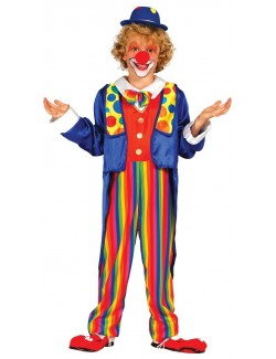 Costum Clown multicolor, copii 3-12 ani