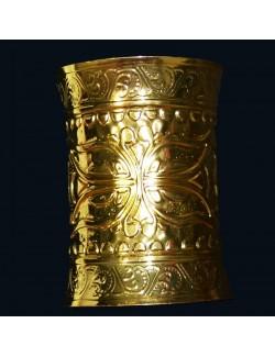 Set 2 bratari metalice aurii, accesoriu carnaval
