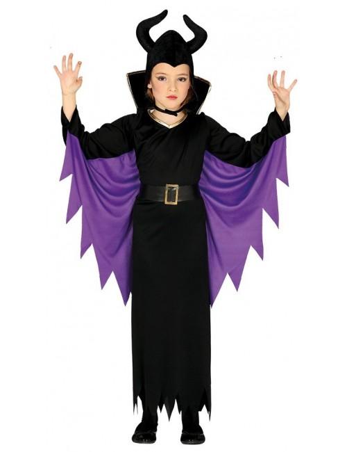 Costum Halloween, Regina malefica, fete 3-12 ani