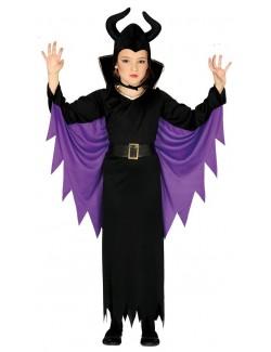 Costum Halloween, Regina malefica, fete 5-12 ani