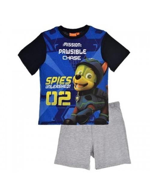 Pijama Patrula catelusilor, baieti 3-6 ani, albastru-gri