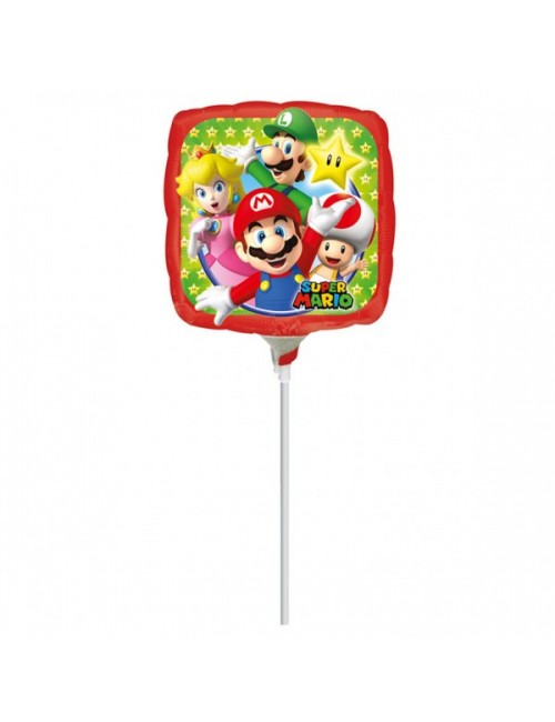 Balon Super Mario, 23 cm, folie metalica