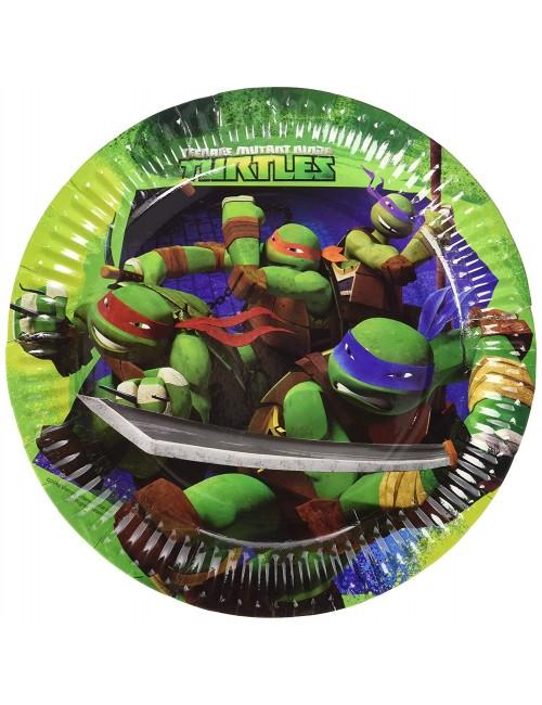 Set 8 farfurii party, Testoase Ninja, 23 cm