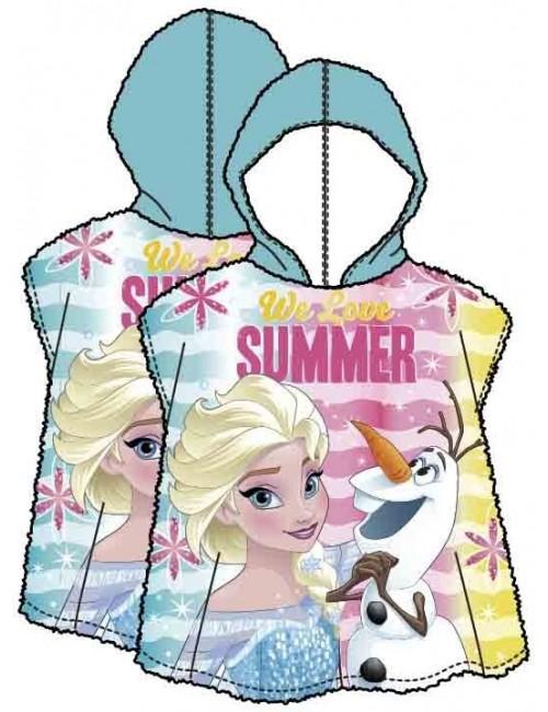 Prosop poncho, Elsa si Olaf Disney Frozen, 58 x 118 cm