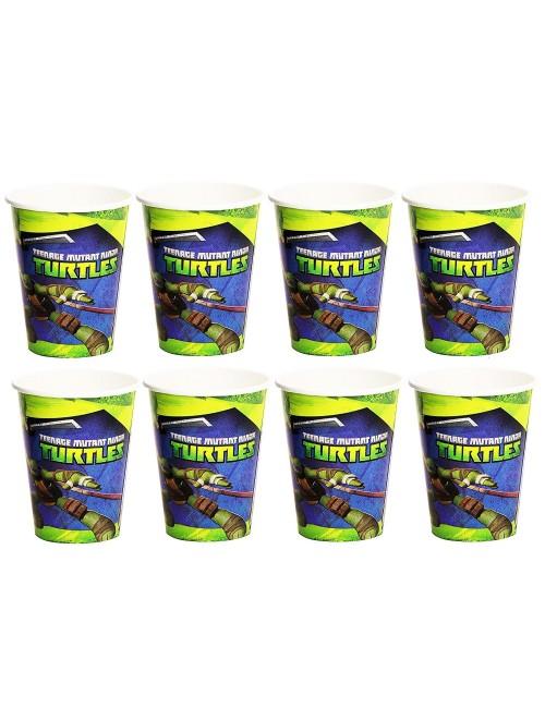 Set pahare carton,Testoase Ninja, 266 ml, 8 buc