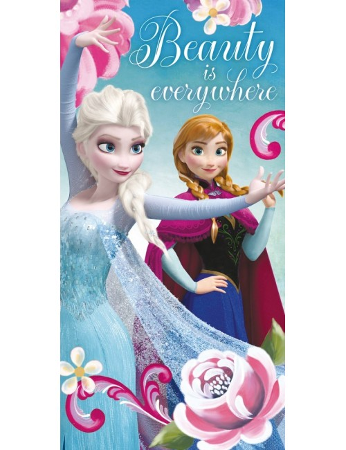 Prosop baie / plaja Elsa si Ana Frozen, 70 x 140 cm