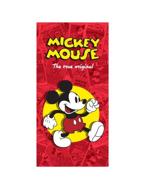 Prosop baie / plaja Mickey Mouse, 75 x 150 cm