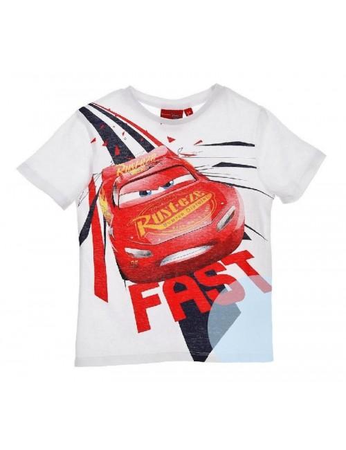 Tricou Disney Cars Fulger McQueen, 3-8 ani, alb