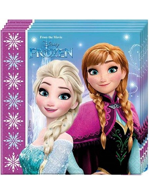 Set 20 servetele Frozen Ana, Elsa, Olaf, 33x33 cm