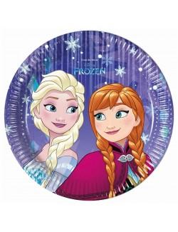 Set 8 farfurii party, Frozen Snowflakes, 20 cm