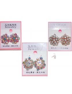Cercei cu cristale stralucitoare - accesorii carnaval