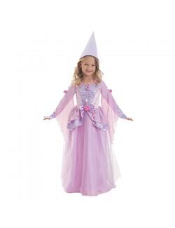Costum Printesa medievala, cu coif, fete 3-7 ani