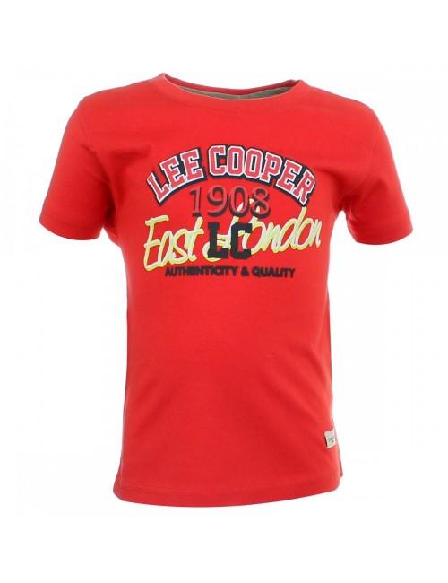 Tricou Lee Cooper, copii 3-5 ani, rosu
