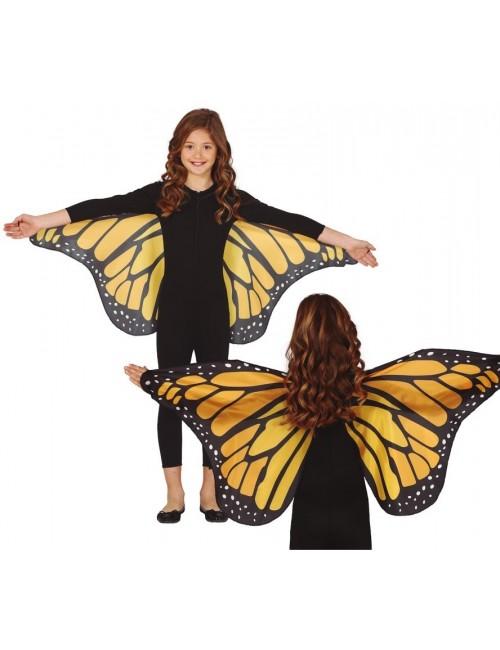 Aripi fluture galben-negru, 110 x 50 cm