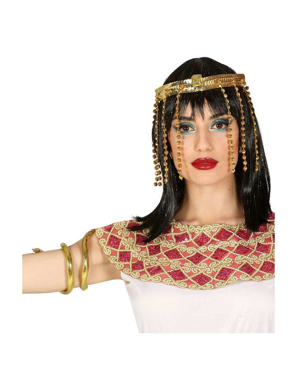 Set Regina egipteana Cleopatra: diadema si bratara sarpe