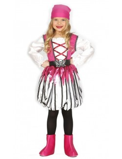Costum Fetita pirat, Pink Pirate, 5-12 ani