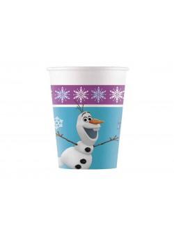 Set 8 pahare carton, Dsney Frozen Olaf, 200 ml