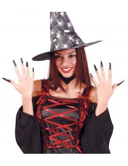 Set 10 unghii negre vrajitoare Halloween