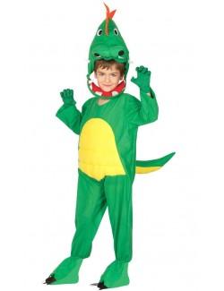 Costum Dinozaur verde, copii 3-12 ani