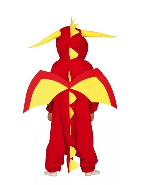 Costum Dragon rosu, copii 3-12 ani