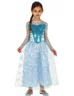 Rochie carnaval Printesa Iernii, copii 4-12 ani