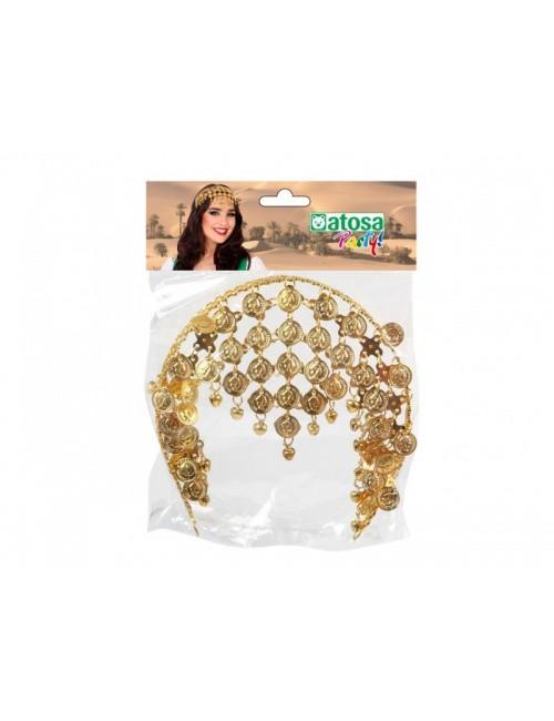 Accesoriu Gipsy cu banuti aurii, pentru cap