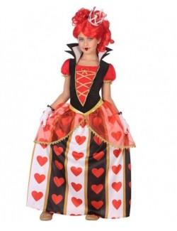Costum Regina de Inima Rosie, copii, 98-160 cm