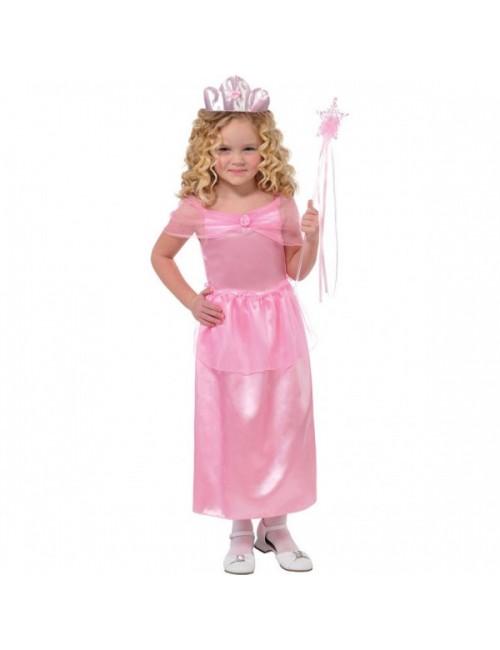 Rochie roz, Printesa Lili, copii 3-6 ani