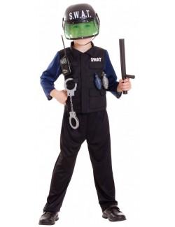 Costum Politist SWAT, pentru baieti 3-6 ani