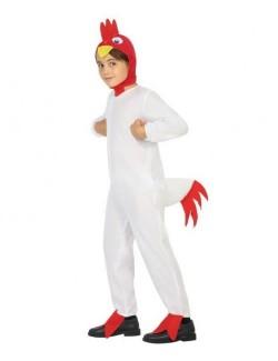 Costum Cocosel alb, copii 5-9 ani