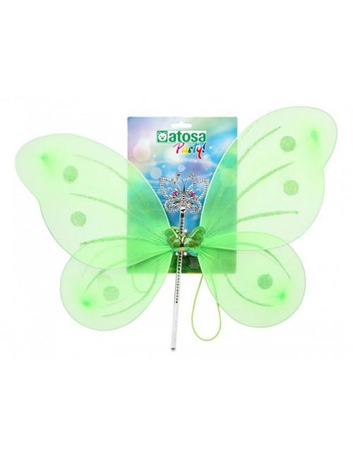Aripi verzi si bagheta Zana / Fluture, 41*49 cm
