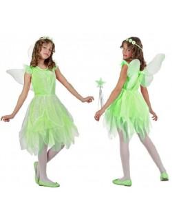 Costum verde Zana, fete 10-12 ani