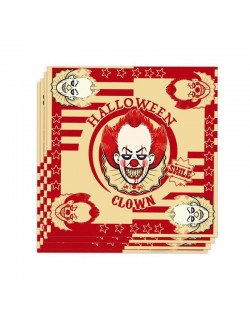 Set 20 Servetele Halloween Clown, 33 x 33 cm