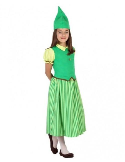 Costum Elf / Spiridus, fete 3-12 ani