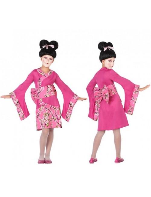 Costum Gheisa, roz, copii 3-12 ani