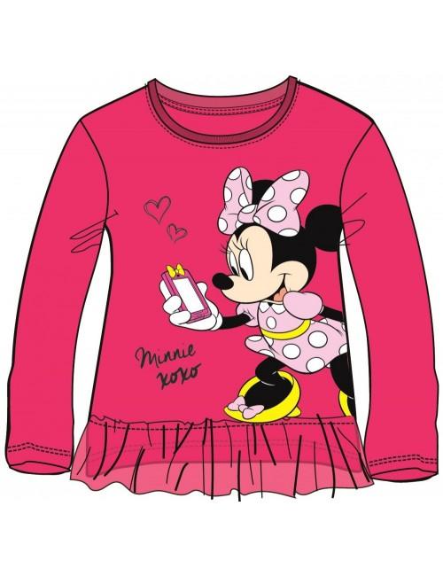 Bluza Minnie Mouse, fucsia, copii 3-8 ani
