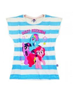 Tricou Little Pony, dungi bleu, fete 3-8 ani