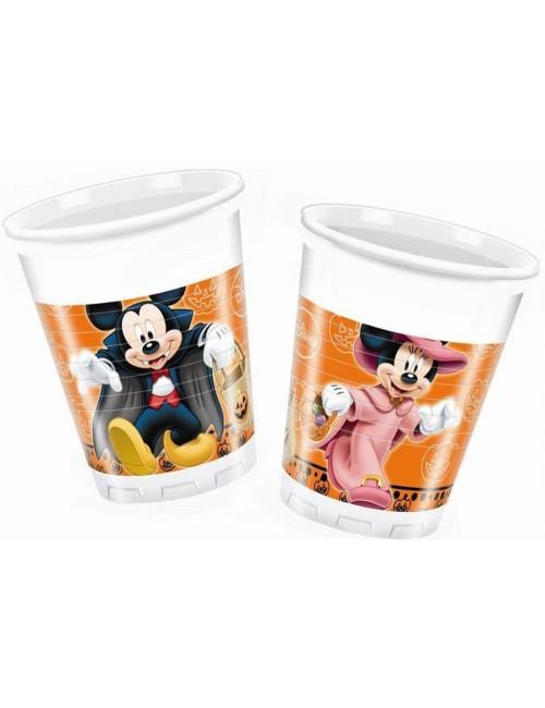 Set 8 pahare Halloween cu Mickey si Minnie, 200 ml