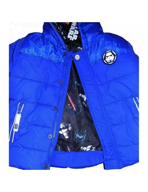 Jacheta iarna Star Wars 4-10 ani, albastra