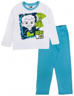 Pijama Ben Ten, alb-bleu, copii 3-8 ani