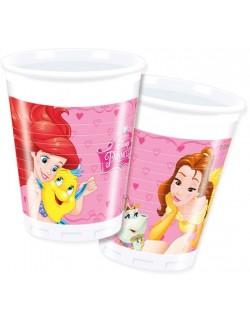 Set 8 pahare Printesele Disney, 200 ml, plastic